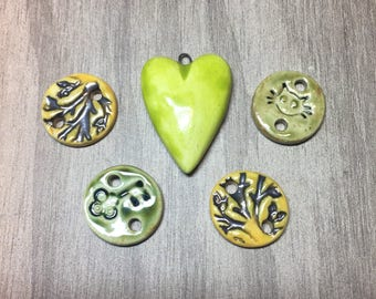 Handcrafted Ceramic Bead Bundle Assortent