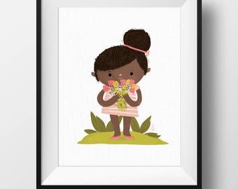 Fine Art Print - Flower Girl