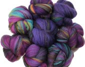Tunnel Vision battlings -- mini batts (2 oz.) organic polwarth wool, bamboo, sparkle.