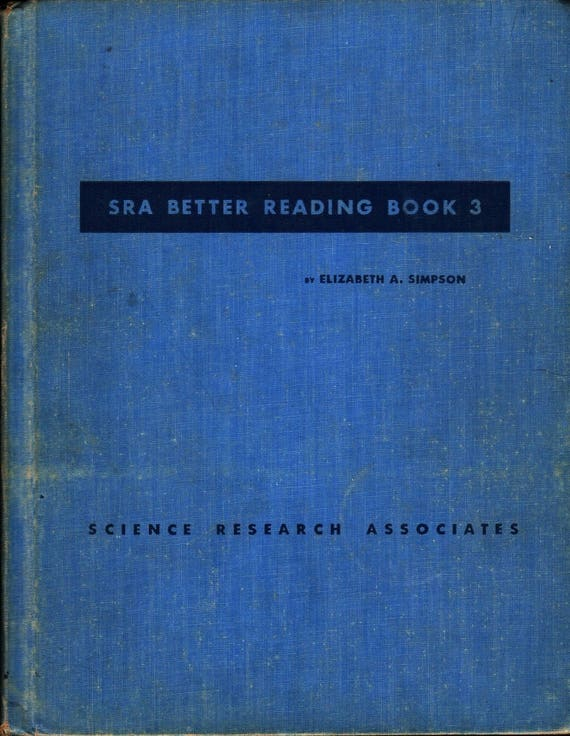 SRA Better Reading Book 3 - Elizabeth A. Simpson - 1951 - Vintage Text Book