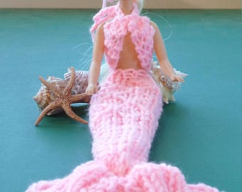 Barbie Doll Mermaid Tail Outfit Doll Cloths