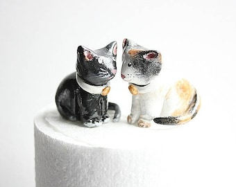 Cat Wedding Cake Topper- Customized cat wedding cake topper - Animal cake topper - Cat Birthday Topper - Cat wedding Cake topper