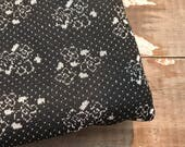 Vintage Floral Fabric-Black and White- Polyester