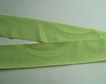Nylon Lycra Spandex BINDING 1-1/2 in. Lime GREEN 5 yds Tape Straight Cut TAPE