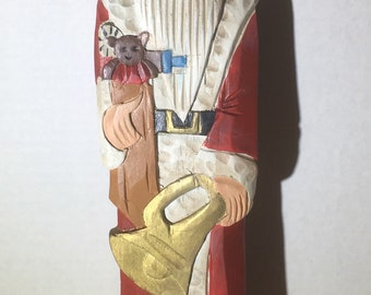 "Wooden Santa 1920 Holland 15"" tall Christmas"