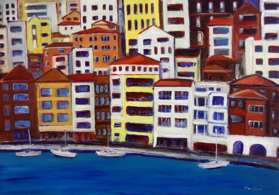 Bosphorus Istanbul II Seascape - Fine Art Print Giclee from Original Oil Painting by BenWill