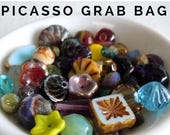 20% Clearance SALE Picasso Bead Mix Grab Bag Assortment from Mountain Shadow Designs - You Choose Quantity