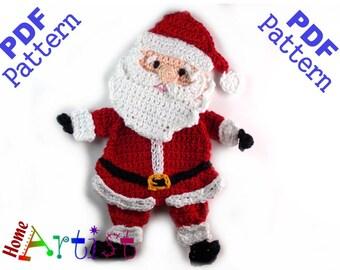 Santa Claus Crochet Applique Pattern
