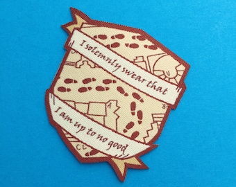 I Solemnly Swear That I Am Up To No Good Iron On Patch - Harry Potter - Marauders Map