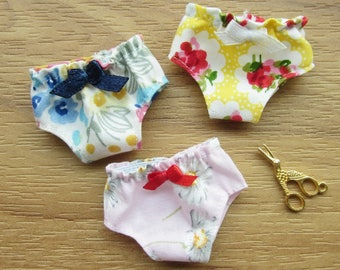 3 panties for Blythe, Lati Yellow, Licca, Ming, Meng and Mong  SET 3