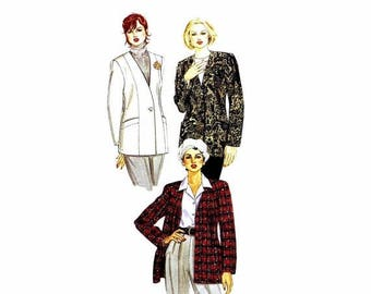SALE 1990s Misses Lined Cardigan  McCalls 6784 Vintage Sewing Pattern Palmer & Pletsch Jacket Size 14 Bust 36 Uncut