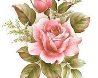 Pink Roses Cross Stitch Pattern PDF
