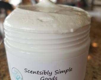 Fragrance Free Whipped Body Butter with Cocoa and Shea Butter Net Weight oz.