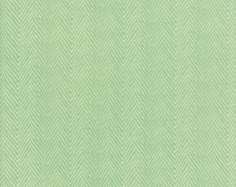 Hazel and Plum - Herringbone in Pond: sku 20295-16 cotton quilting fabric by Fig Tree and Co. for Moda Fabrics