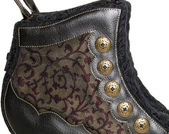 30% off Victorian Swirls Boot Handbag - One of a kind