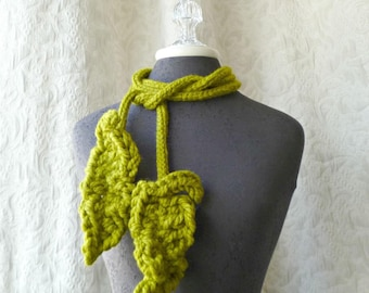 Brave Feather Lariat in Chartreuse - One of a Kind