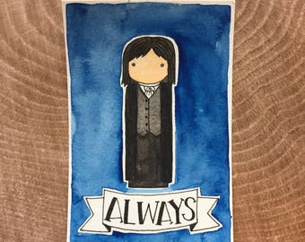 PegBuddies Postcard- Severus Snape, Harry Potter, Always