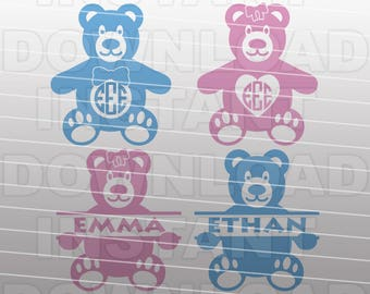Teddy Bears SVG File,Baby Boy SVG File,Baby Girl SVG File,Newborn svg-Vector Cut File for Commercial & Personal Use-Cricut,Cameo,Silhouette