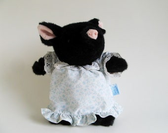 Vintage Pig-Wig Stuffed Animal Toy by Eden Beatrix Potter 1990s Toy PigWig Pig Wig