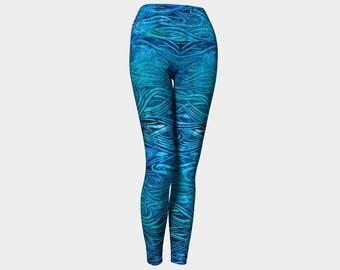 Batik Blue Yoga Leggings