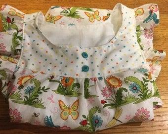 Girl Size 8  Dress with Meadow Friends Fabric by Debi Strain