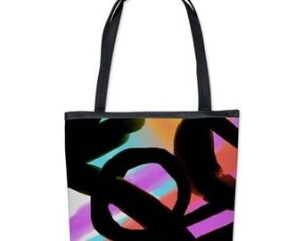 Funky Abstract Art Shoulder Bag Handbag Purse My Colorful Abstract Digital Painting