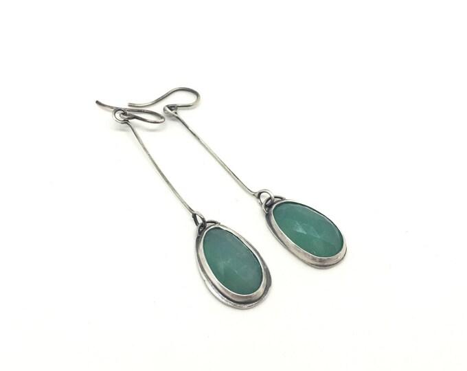 Featured listing image: Chrysoprase earrings wonder wander earring green earrings drop earrings dangle earrings