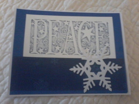 Peace Snowflake Christmas Card