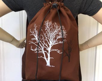 Sycamore Tree Back Pack Brown