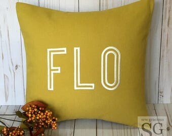 Aviate CODE Monogram Pillow Cover. 12x16 Decorative Throw Pillow. Letters or Numbers. Zip Code. House Numbers. Hometown. Dorm Decor.