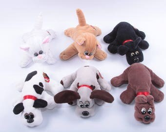 PICK YOUR OWN - Pound Puppy, Pound Purry, Puppies and Kittens, Stuffed Animals, Plush Dogs and Cats, Vintage Toy ~ CC001