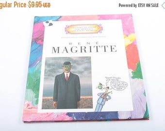 Rene Magritte, Photo Book, World's Artists, Non Fiction, Vintage Children's Book, Illustrated ~ The Pink Room ~ SS003
