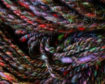 Luxury art yarn suri alpaca and lambswool hand dyed chunky 121 yards 4.1 oz
