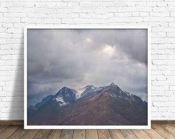 """landscape photography, large art, large wall art, clouds, mountains, landscape, glacier park, nature, montana, landscape - """"Keep Climbing"""""""