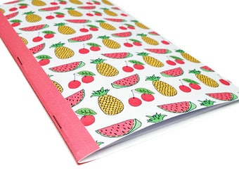 Fruit Notebook - Diet Journal - Cooking School Notebook - Bullet Journal - Recipe Note Book - Foodie Gift - Food Notebook - Kitchen Notebook