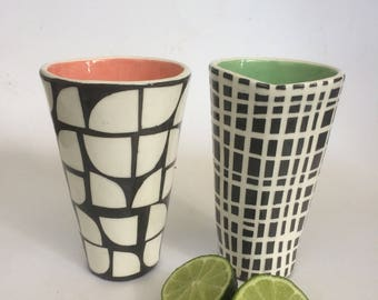 Checkers Tumbler Set