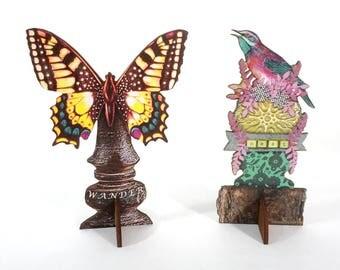 2 Wooden Art Sculptures - Special Sale on Handmade Pop Ups