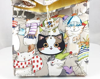 Meowy Catmas Gift Bag By For Mew, Winter Cats, Cat Toy, Cat Tattoo, Cat Pins, Cat Lady Cat Person Gift, Christmas Gift