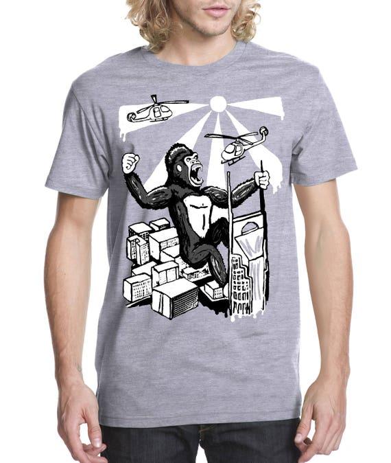King Kong over Nashville Screen Printed T-shirt