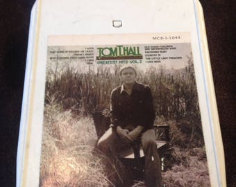 Tom T Hall Greatest Hits Volume 2-  8 Track Tape Free Shipping