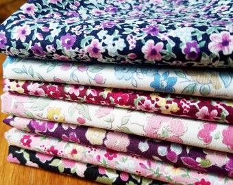 Petite Prints Fat Quarter Bundle by Sevenberry -  Robert Kaufman Fabrics 7 prints