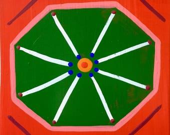 Stop Wishing Start Dishing / original painting / gone octagon / 5344