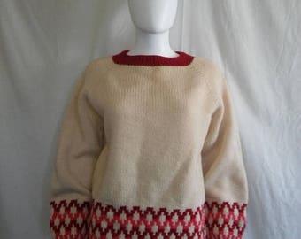 Closing shop SALE 40% off Handmade wool pullover sweater jumper