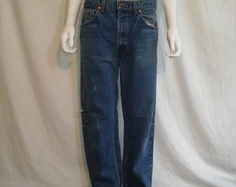 Closing Shop 40%off SALE Levis 505 Zip Fly Regular Fit Denim Jeans Waist W 33.5 90s 505 regular fit straight leg 80s 90s