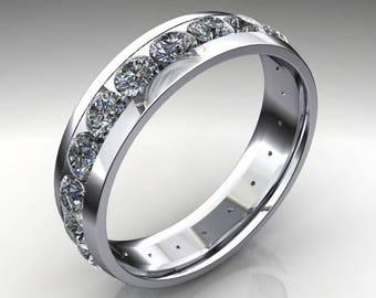 beau ring - men's wedding band, 2 carat men's ring