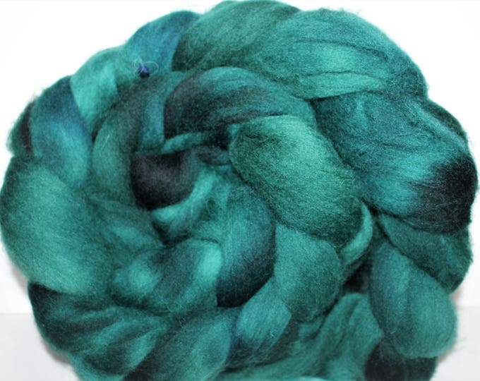 Kettle Dyed Cheviot Wool Top.  Easy to spin.  Great for felting. 1lb. Braid. Spin. Felt. Roving. C108