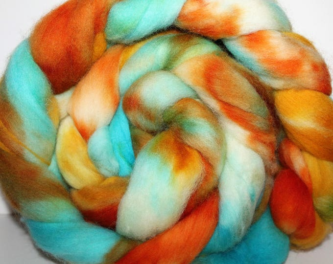 Kettle Dyed Cheviot Wool Top.  Easy to spin.  Great for felting. 1lb. Braid. Spin. Felt. Roving. C33