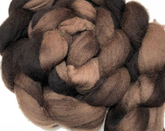 Kettle Dyed Cheviot Wool top. Roving.  Spin or felt. Soft and easy to work with. 1lb. Braid