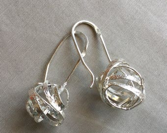 Sterling Knots collection earrings