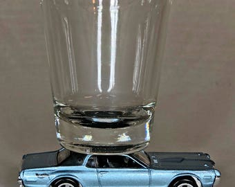 The ORIGINAL Hot Shot, Classic Hot Rods, Shot Glass, '68 Mercury Cougar, Red, Hot Wheels